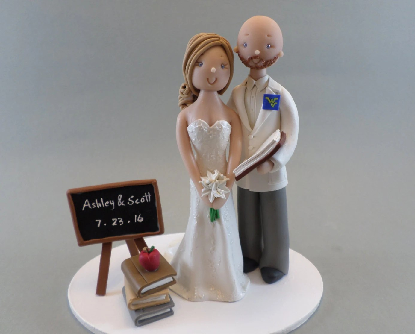 Policeman And Nurse Customized Wedding Cake Topper By Mudcards