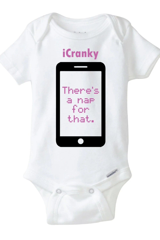 iCranky Baby Onesie Design SVG DXF Vector Files for Cricut