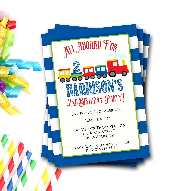 Thomas The Train Customized Birthday Invitations