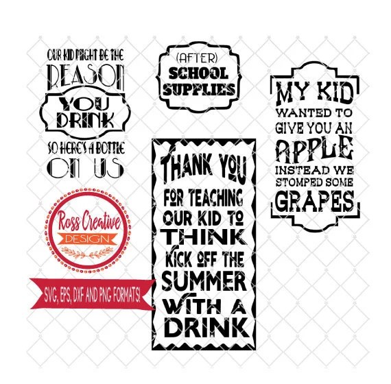 Download Teacher Wine My Child Might be the Reason you Drink SVG dxf