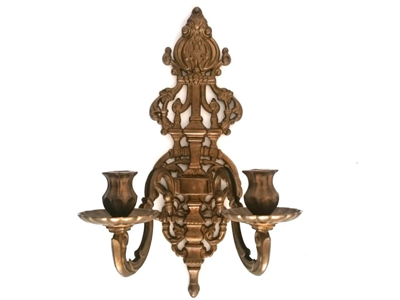 Wall Sconce / Solid Brass Victorian Candelabra / by AllPicked on Victorian Wall Sconces id=99714