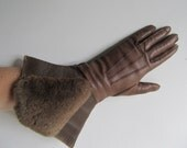 Brown Leather gauntlets, ...