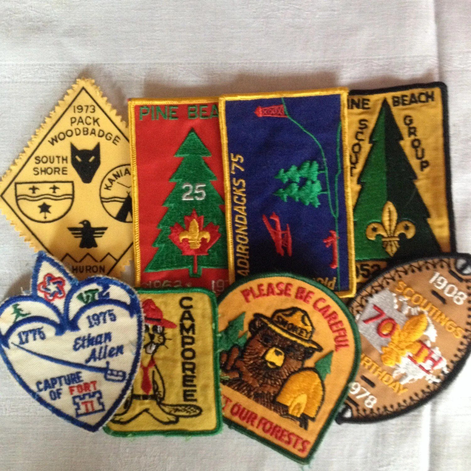 Wolf Cub Scout Camp Badge Patch Lot