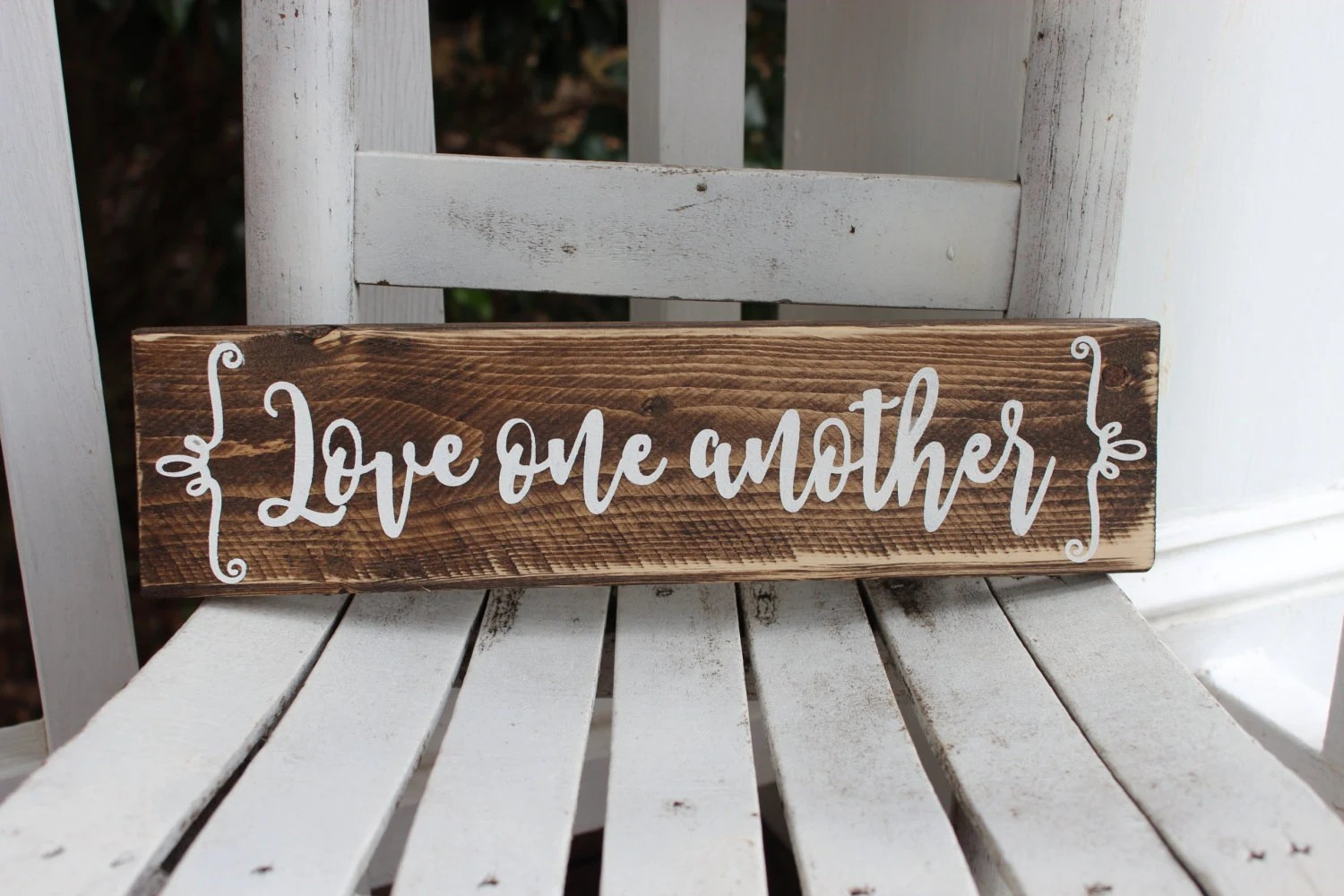 Love One Another Word Sign Bible Verse Sign Gallery Wall