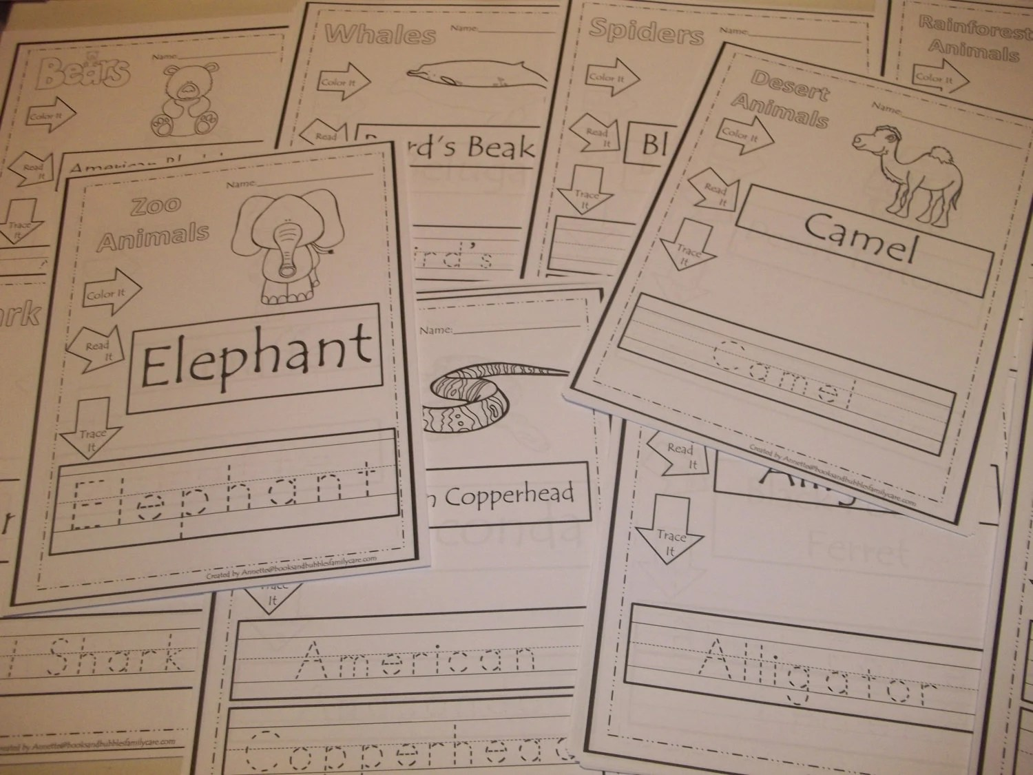 281 Printed Animal Tracing Worksheets Preschool