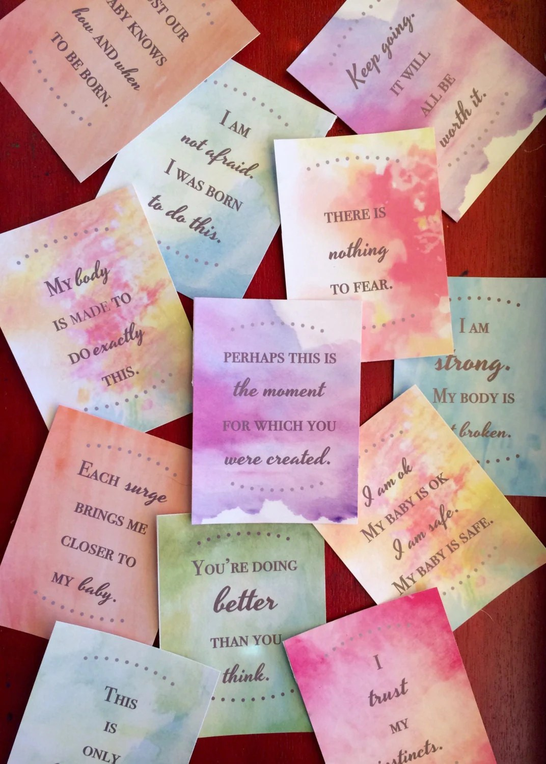 Birth Affirmations Set Of 24 Printable Cards Digital