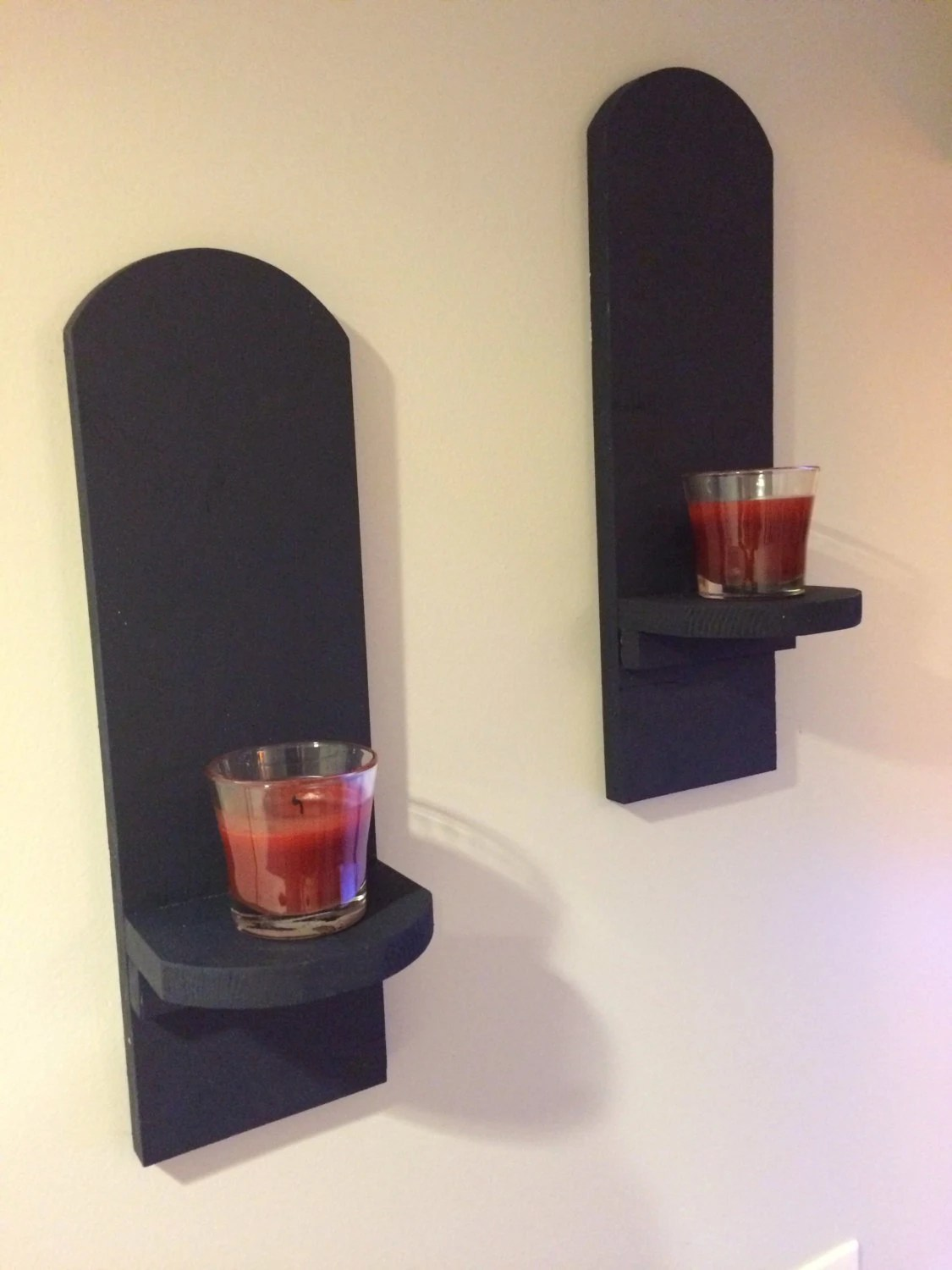 Wall mounted candle holders by Code38Woodworking on Etsy on Wall Mounted Candle Holder id=72962