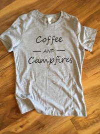 Womens Coffee and Campfires Tshirt