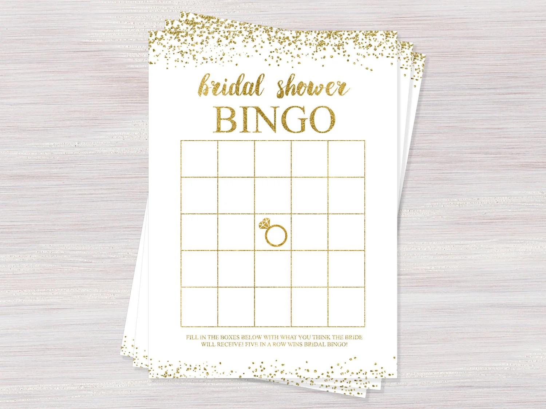 Bridal Bingo Bridal Shower Games Bingo Cards Printable