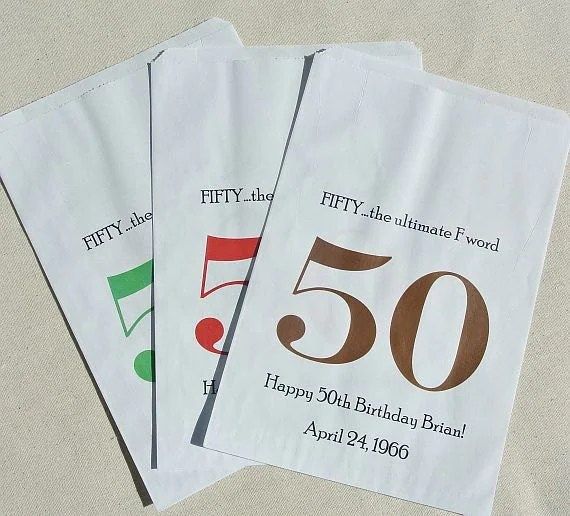 50th Birthday Party Gift Bags