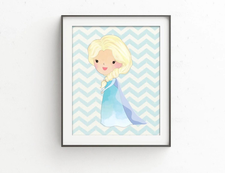 Frozen Bedroom Frozen Bedroom Decor Elsa Watercolor Print