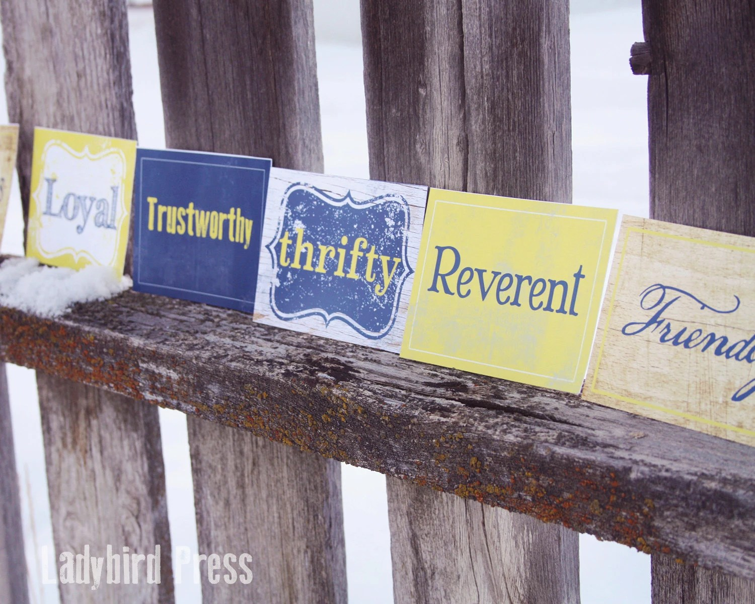 Printable Blue And Gold Scout Law Name Cards Boy Scout Law