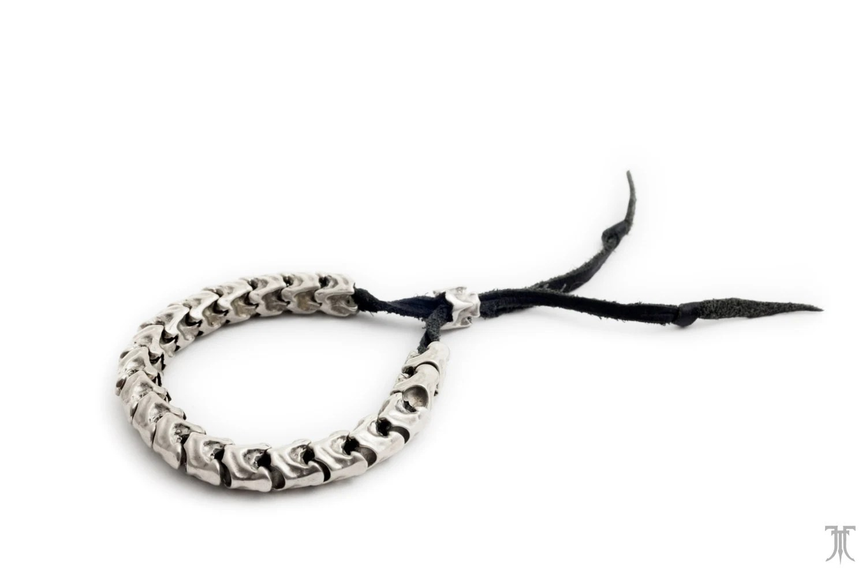 Spinal Tap Adjustable Braided Leather Bracelet