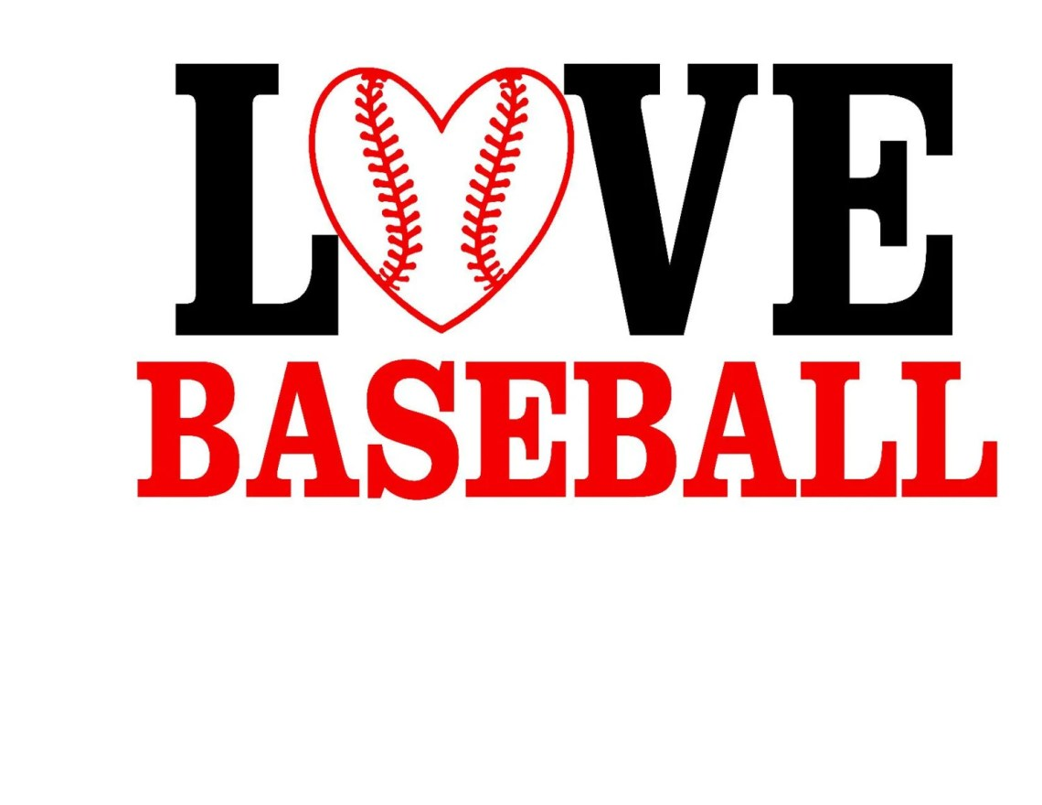 Download Love Baseball SVG Jpg DXF Instant Download.. or Silhouette