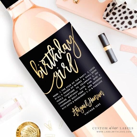 Custom Birthday Wine Label Custom Wine Label Personalized