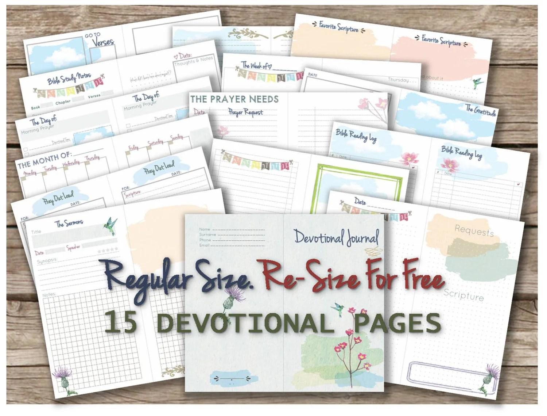Bible Study Printable Journal Verse Journaling Devotional