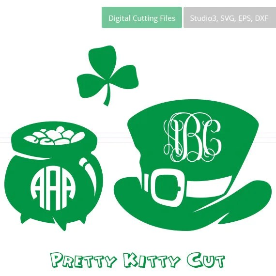 Download St. Patrick's Day SVG Monogram Frames instant download cut