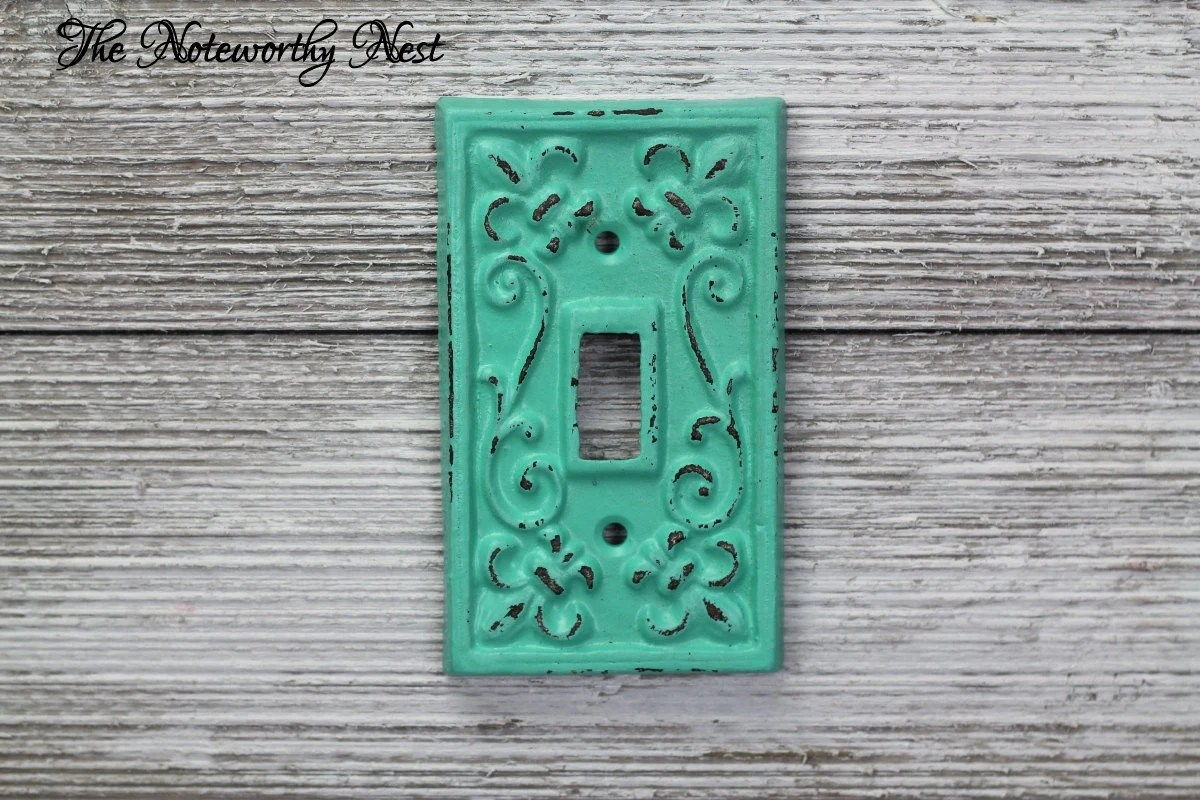 Custom Colors Cast Iron Switch Plates // Light Switch Covers
