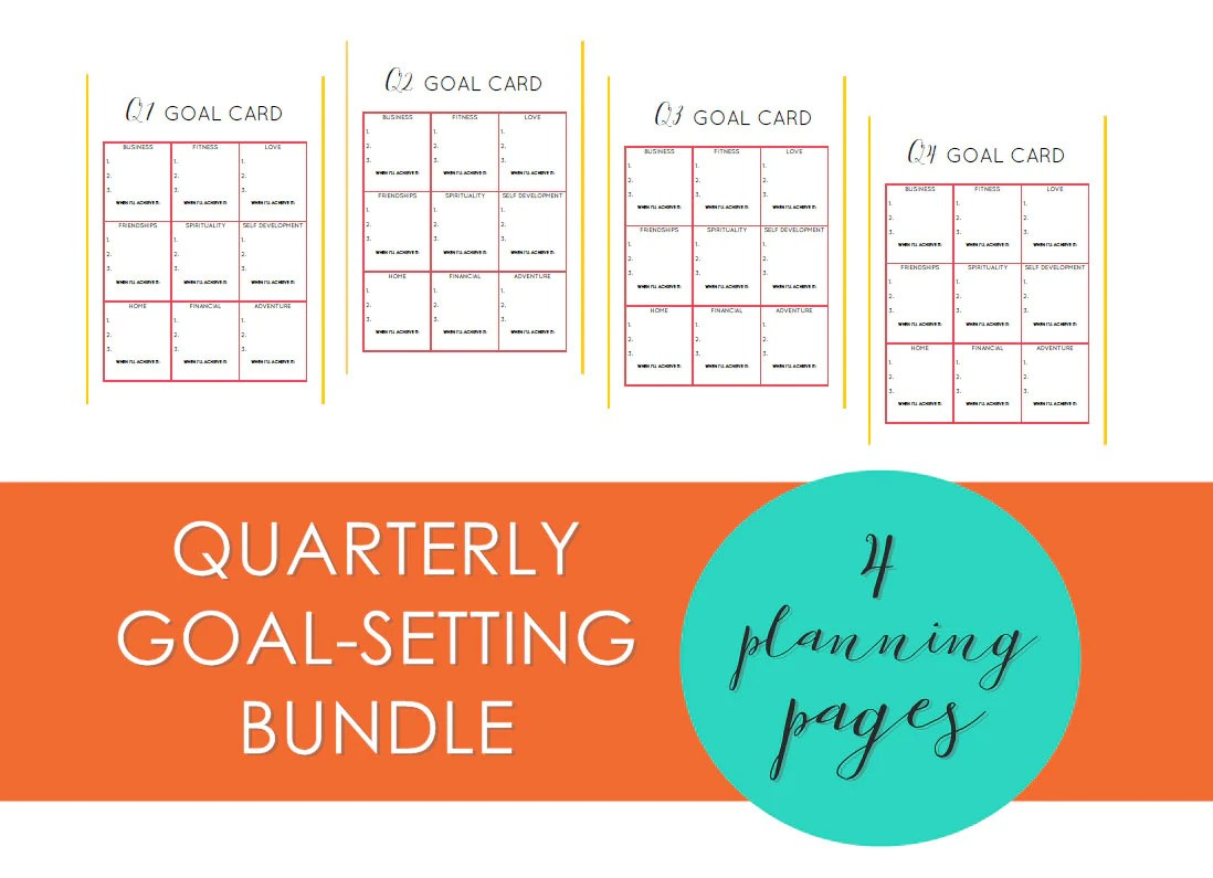 Custom Quarterly Goal Setting Printable By Goalcatcher