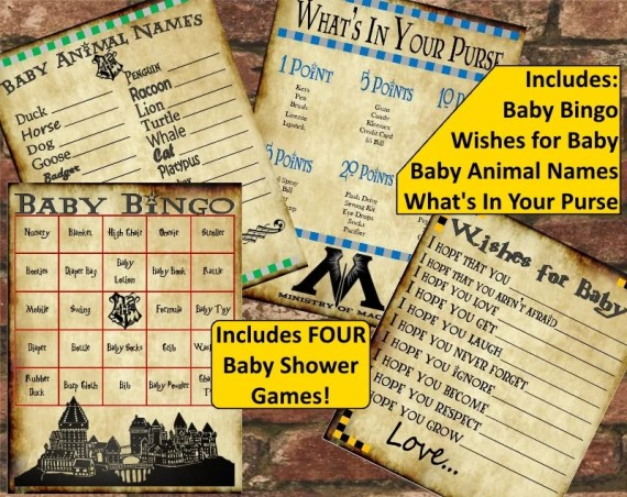 Harry Potter Baby Shower Game Pack