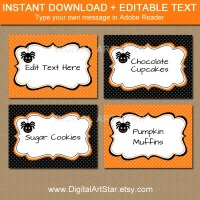 halloween food labels printable