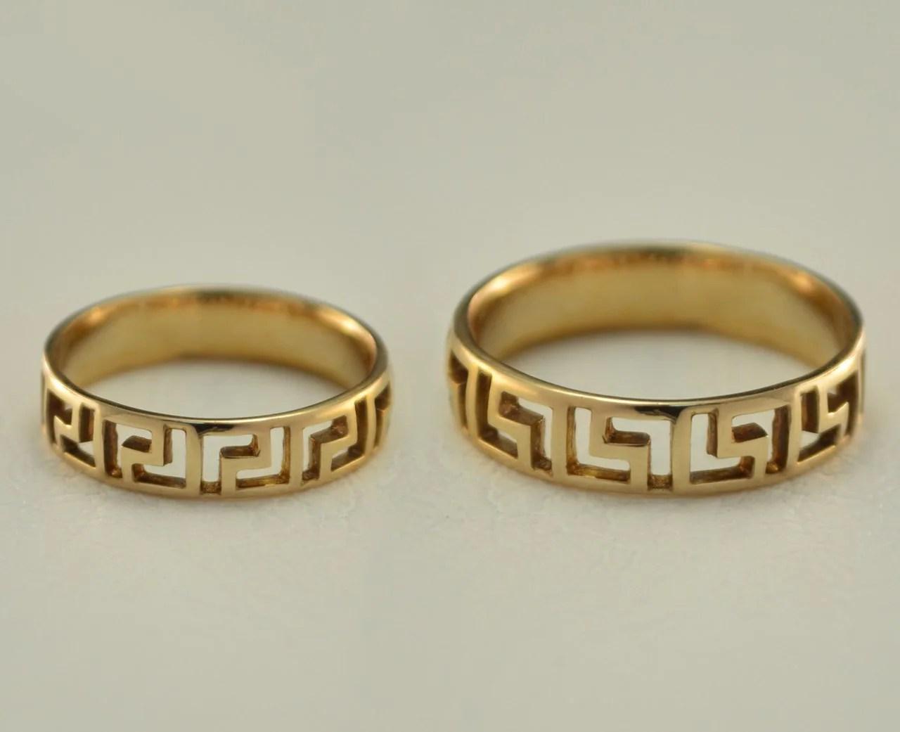 Couples Wedding Rings Greek Wedding Bands By WeddingRingsStore