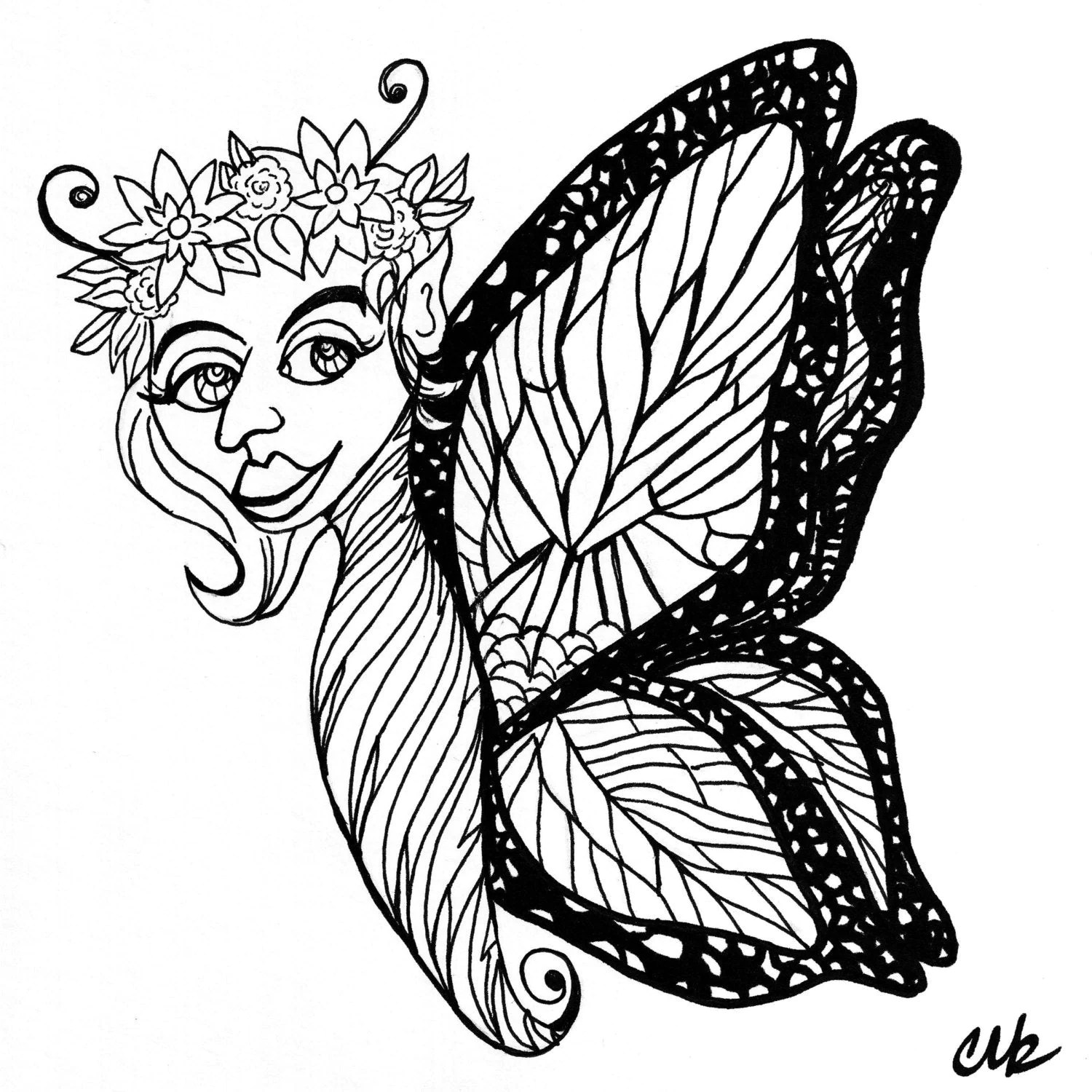 Adult Coloring Page Clip Art 8x8 300 Dpi Litha Pagan
