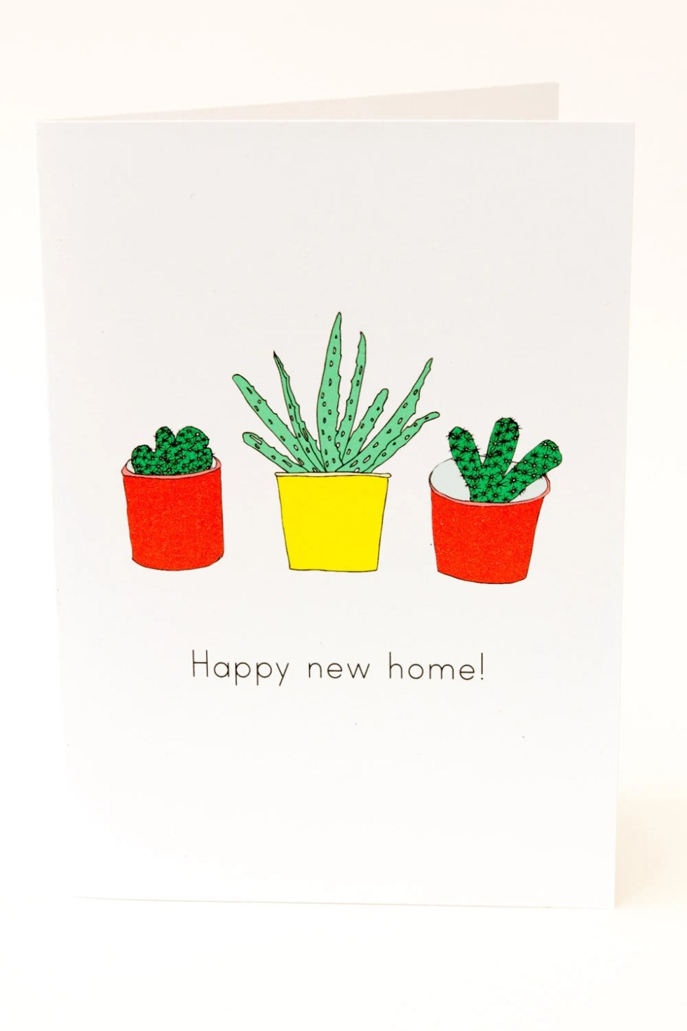 Happy New Home Card. Cact...