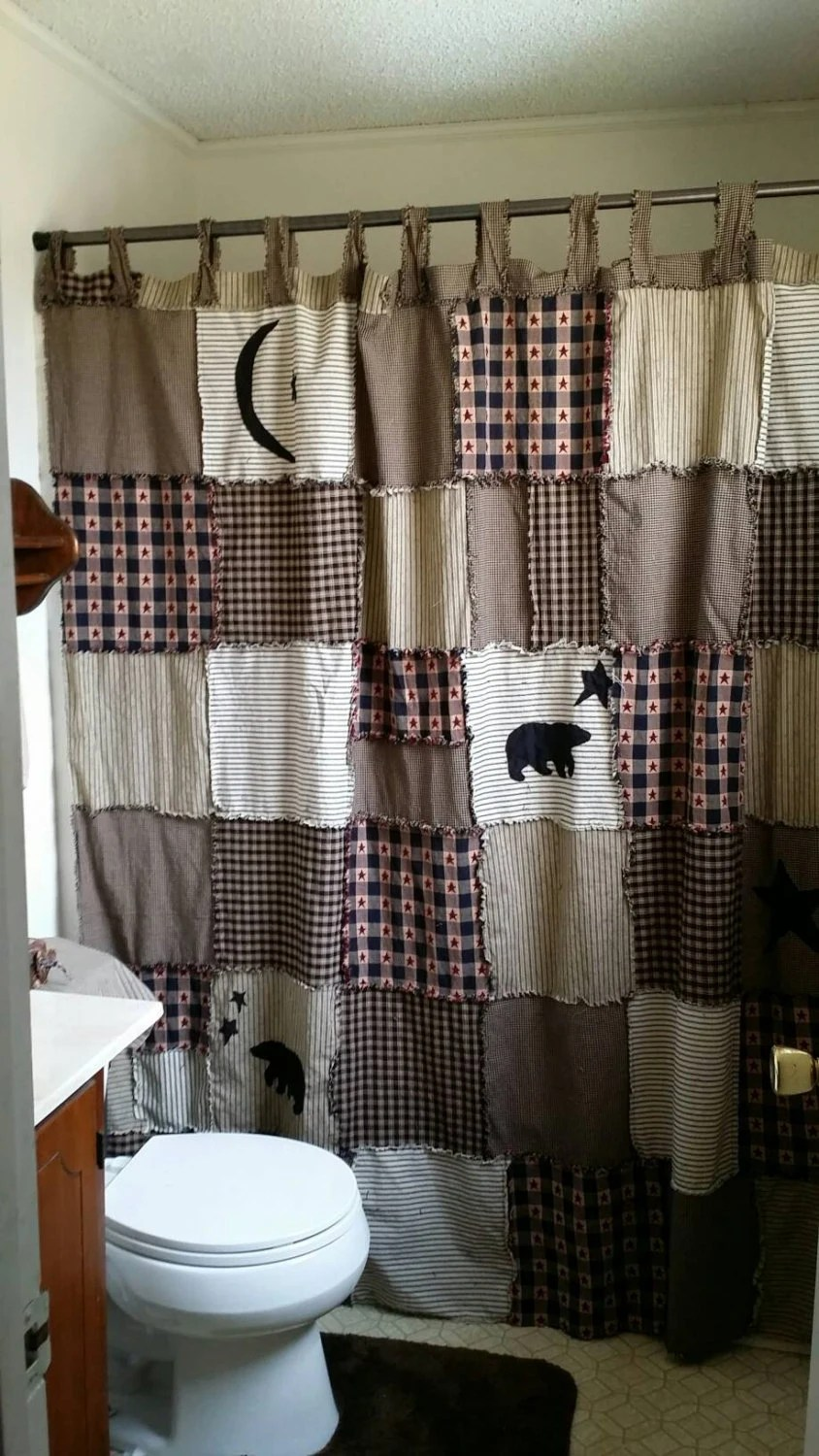 Primitive Shower Curtain Outhouse Shower Curtain By PrimAndClutter
