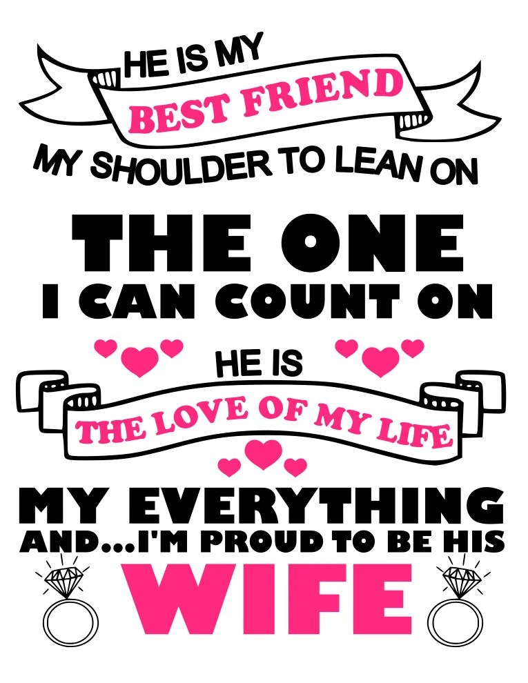Download Proud to be your Husband and Proud to be your Wife svg file