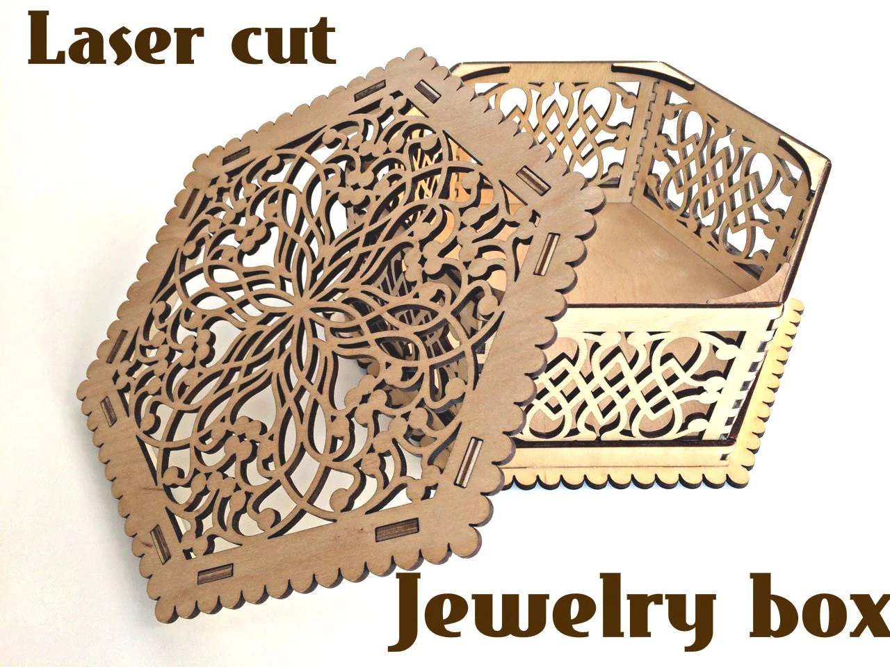 Wooden Box For Jewelry Laser Cut Vector Model Instant