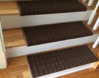 Wingtip Brown - Carpet Stair Tread – Grand Central - Beaulieu - Scotchgard™ - Pet - Odor Eliminator -Magic Fresh® (Sold each)