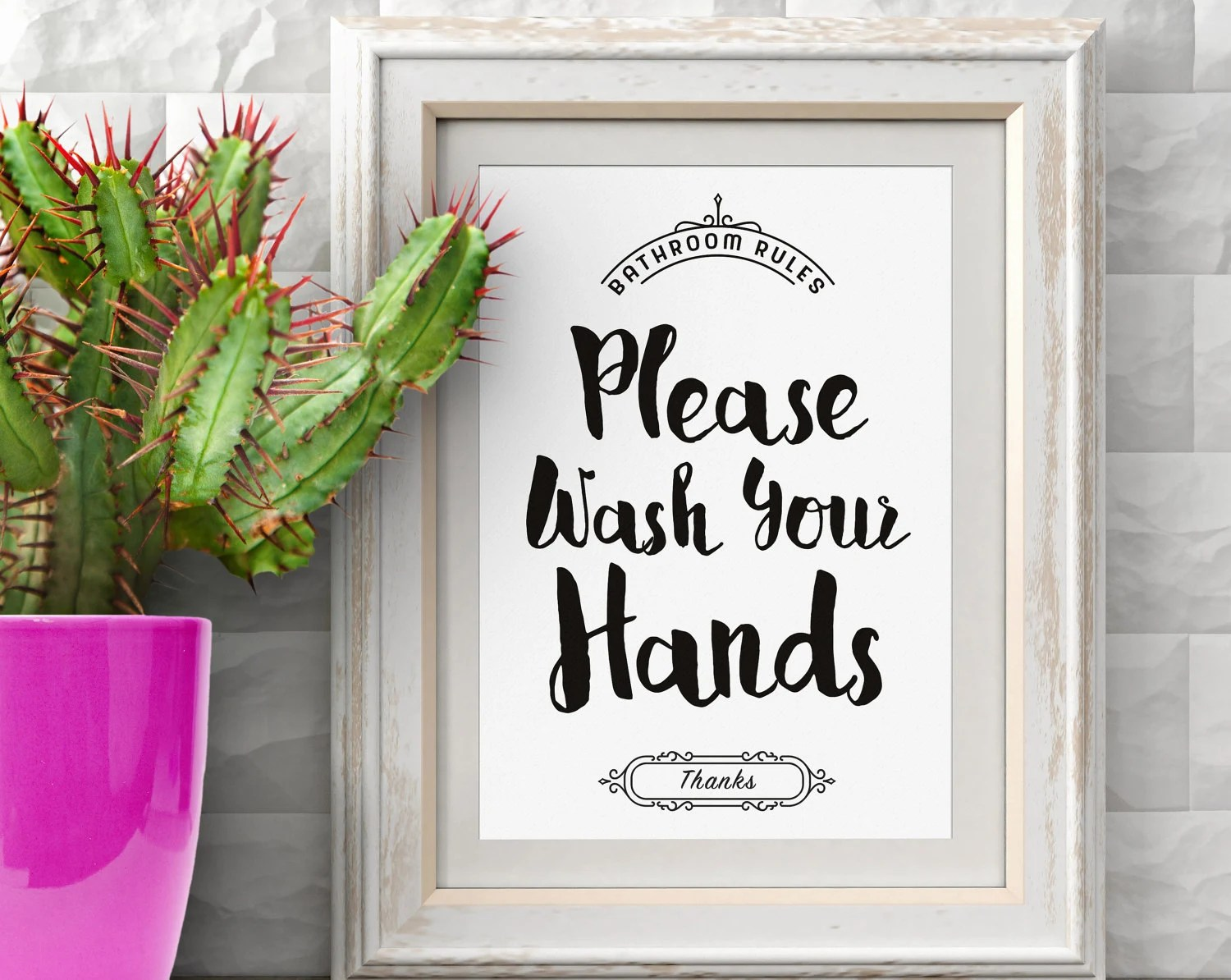 Please Wash Your Hands Hand Washing Poster Wash Hands Sign