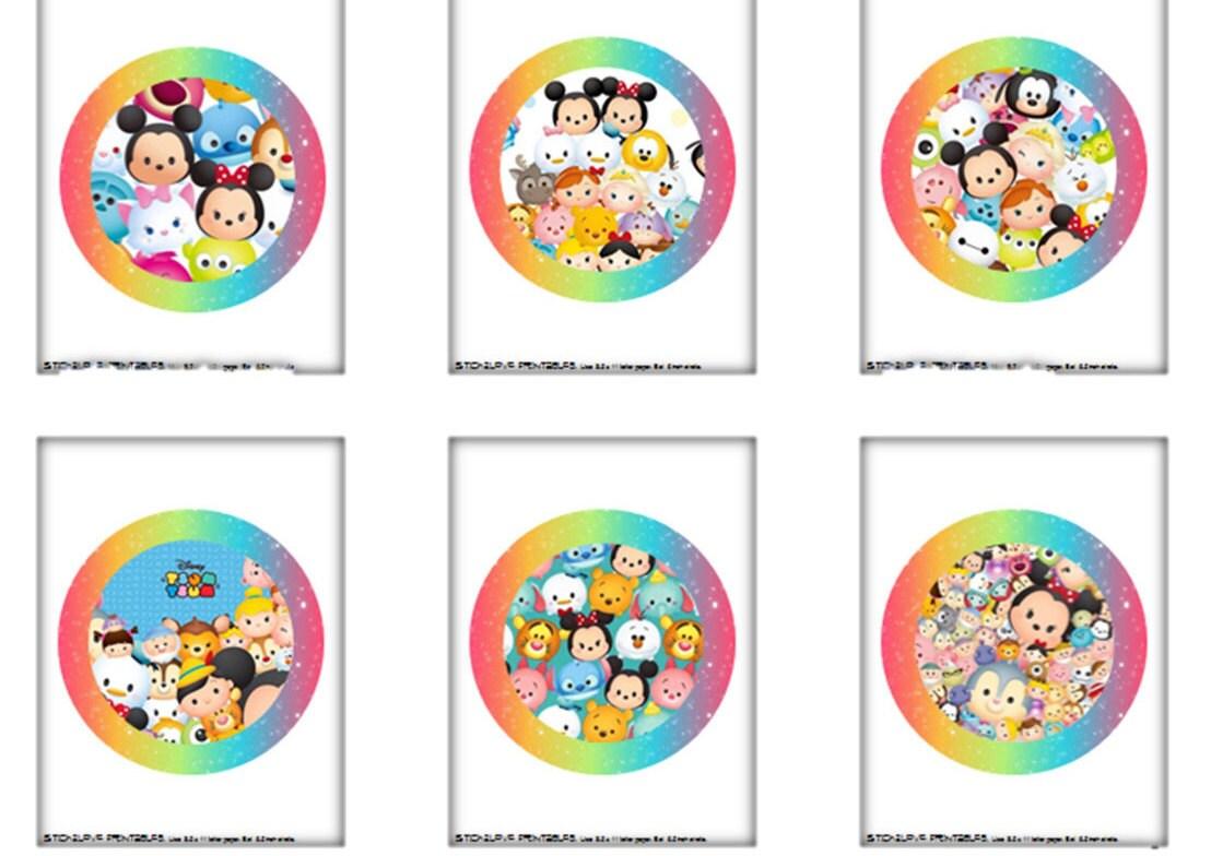 Tsum Tsum Printables 6 5 Mega Big Circles Cake Toppers Center Pieces Decoration Signs Sign