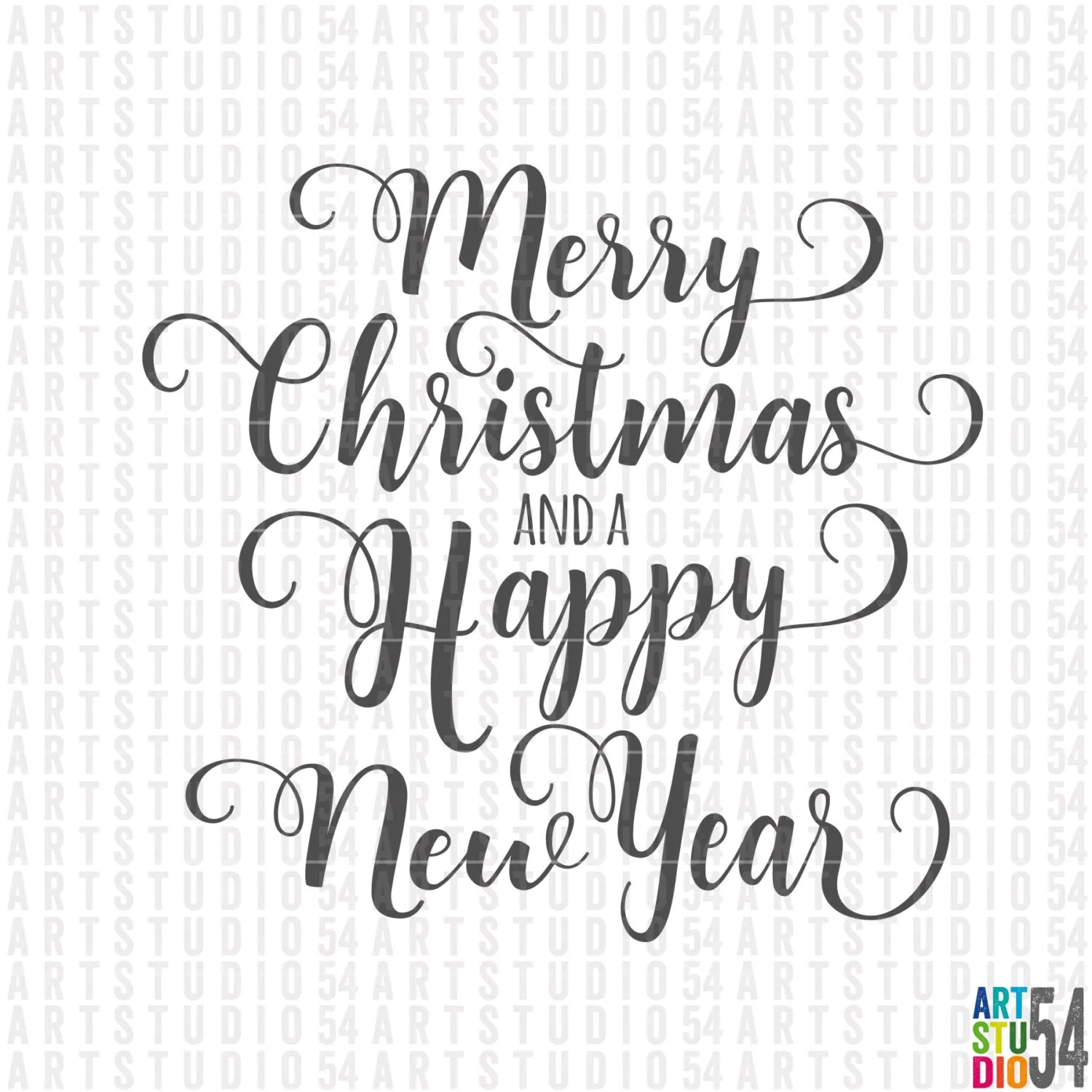 Merry Christmas And A Happy New Year Svg