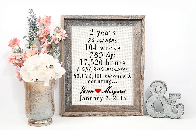 2 Year Wedding Anniversary Gift 2nd Wedding Anniversary