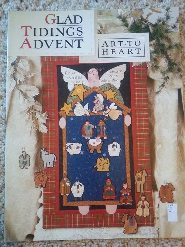 Glad Tidings Advent By Nancy Halvorsen Art To Heart