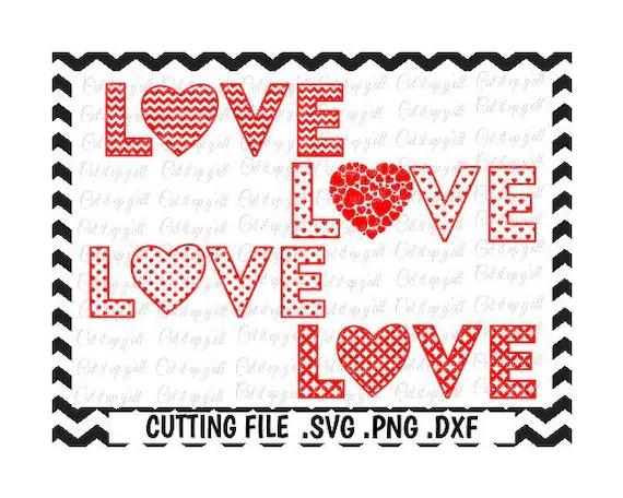 Download Love Heart Valentine Svg4 designs Chevron Dots Diamonds