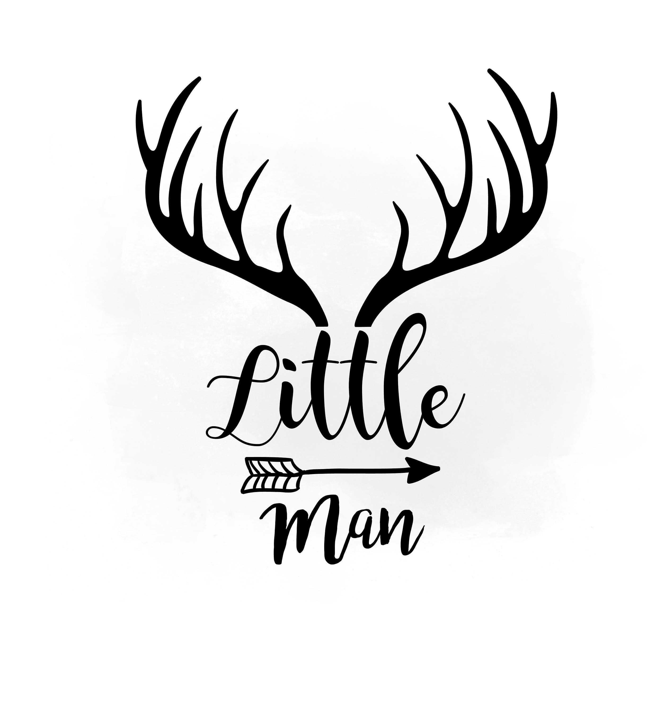 Little Man Svg Clipart Antler Hornes Svg Boho Antlers