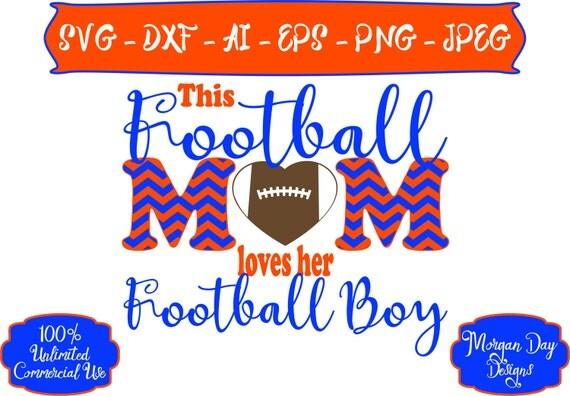 Download Football Mom Loves Her Football Boy SVG Football Mom SVG
