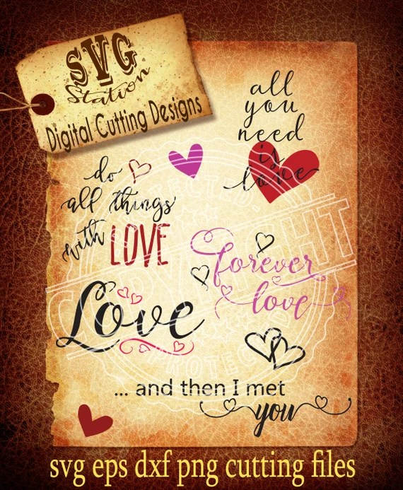 Download Cute Love Quotes Svg Love Svg Valentine SVG DXF PNG and ...