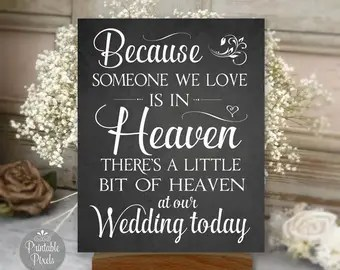 Download Wedding Cut File Because Someone We Love is in Heaven Heaven