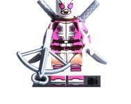 Gwen-Pool Custom Minifigure 100% LEGO Compatible! Spider-Man Deadpool Marvel Comics Character