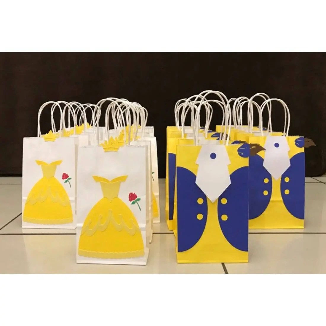 Beauty And The Beast Birthday Party Bags Belle Amp Beast