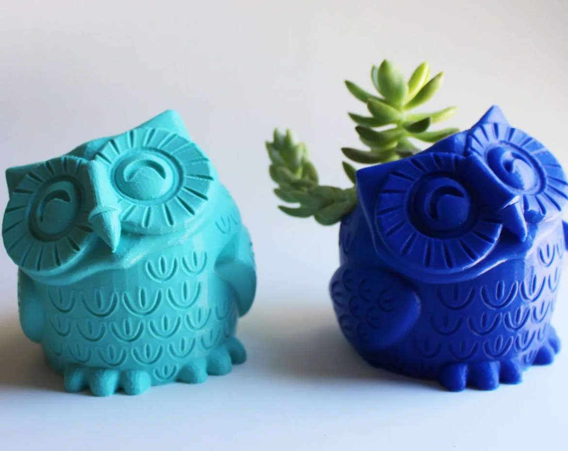 Owl Pot  / Owl Pen Holder...