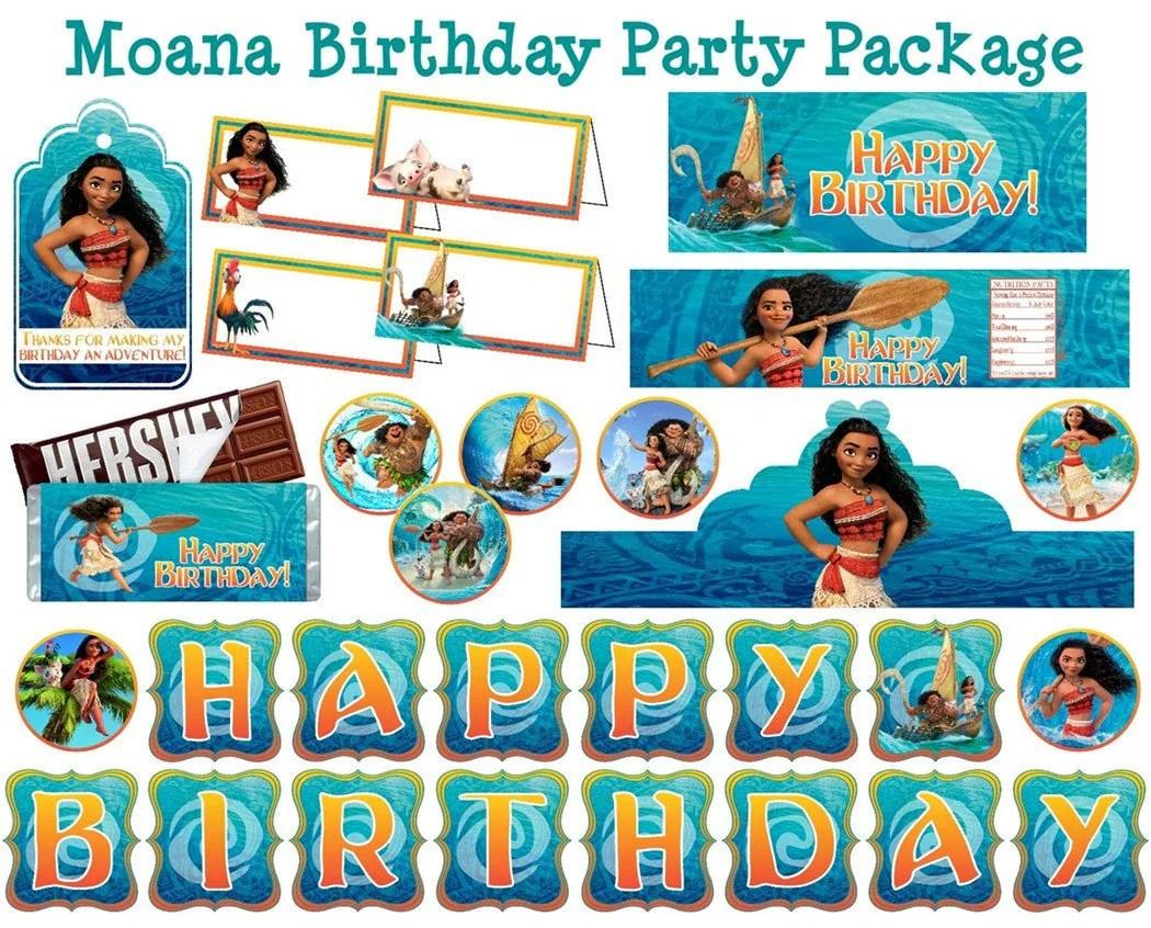 Moana Birthday Party Pack Moana Party Pack Moana Party