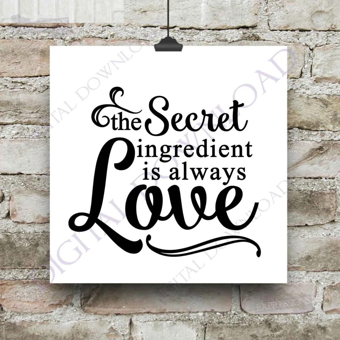 Download The secret ingredient is always love Clipart Vector Download