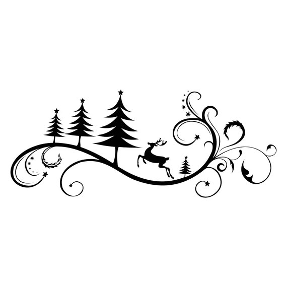 Download Christmas Ornament Deer Graphics SVG Dxf EPS Png Cdr Ai ...