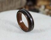 Wooden Ring - Ebony & Oli...