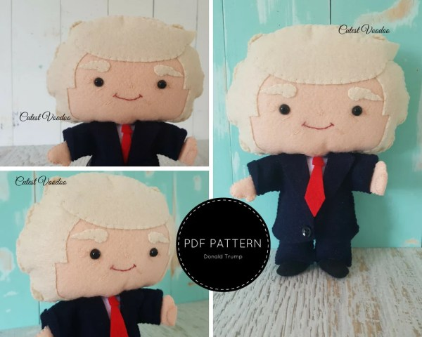President Donald Trump PDF Felt Pattern from CutestVoodoo ...